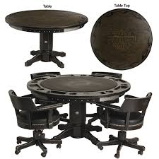 Harley Davidson HDL V Bar & Shield Flames Poker Table
