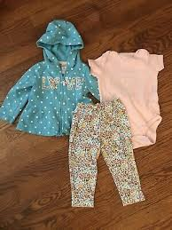 Carters New Girls 2 Piece Outfit Set Size Newborn See Size