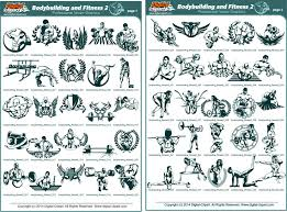 Bodybuilding And Fitness 2 Extreme Vector Clipart For