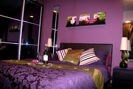 Bedroom:Purple And Cream Bedroom Decoration With Big Cream Fur Rug And  Floor Lamp Small