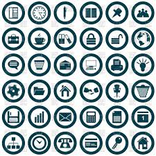 Business And Office Icons Vector Illustration Of Signs Symbols