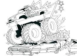 Monster Truck Color Monster Truck Color Pages Monster Jam Coloring
