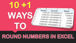 Excel Round Formulas 10 1 Ways To Round Numbers In Excel Free Microsoft Excel