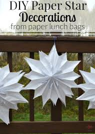 Make your own DIY Paper Star Decorations using inexpensive paper lunch  bags. Paper stars are