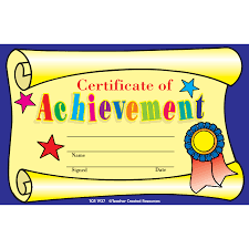 Certificate Of Achievement Awards Tcr1937 Teacher Created Resources
