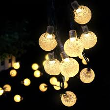 Solar Outdoor String Lights Ascher 30 Led Fairy Light Warm White