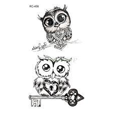 водонепроницаемые временные татуировки милая сова на лодыжке тату наклейки