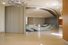 photo of a curved sliding door for an interior stairway