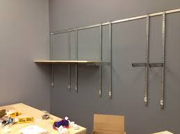 plausible lab part shelving ideas wall shelves without drilling
