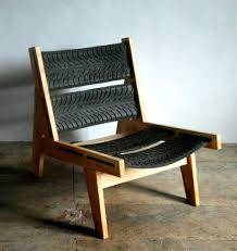 DIY furniture from car tires Chair backrest wood