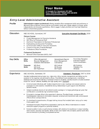 Legal Assistant Resume Samples Entry Level Administrative assistant Resume New Legal Secretary 40