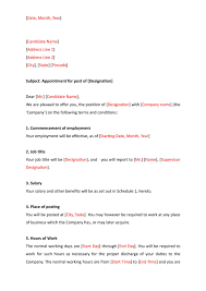 Appointment Letter Format Indiafilings Document Center