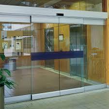 automatic frameless sliding glass doors