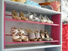 painted shoe rack