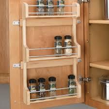 Kitchen Spice Organization Cabinet Door Mount 3 Shelf Spice Rack Spice Racks Bottle And