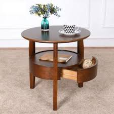 coffee table small round table wooden living room simple sofa side table with drawer tea