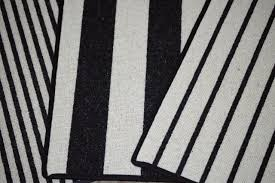 black and white striped bathroom rug