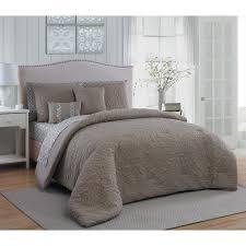 melbourne 9 piece taupe queen comforter set