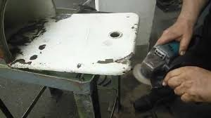 how to fix an old cast iron sink