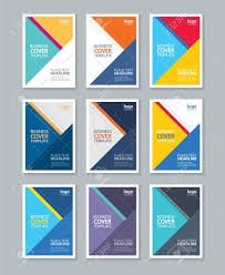Color Full Cover Page Brochure Flyer Report Layout Design Template