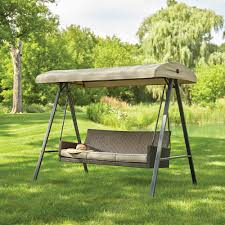 plaistow 3 person wicker outdoor swing with canopy