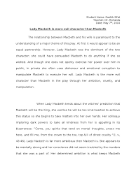 essay macbeth writing a good persuasive essay how to write a  relationship between macbeth and lady macbeth essay plan relationship between macbeth and lady macbeth essay plan