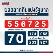 ตรวจหวย 16 กรกฏาคม 2564 ผลสลากกินแบ่งรัฐบาล รางวัลที่ 1 คือ 556725