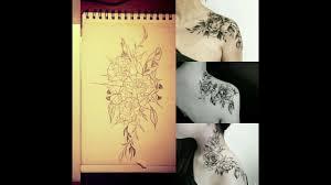 цветы ночь листья язык латинскаяамерика бумага рисунок дизайн тату большойпривет Flores