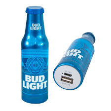 Bud Light Bud Light Power Bank Portable Metal Charger Battery Pack Budlight 2600 Mah Power Bank Premium Usb Output Charger Universal Battery Charger For All