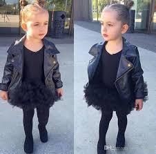 girl clothes girl s faux leather look jacket size 2 7 motorcycle biker coat overcoat pu leather jacket baby girls short children jacket women jackets white