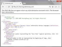 Viewing Xml File Using Google Chrome As An Xml Browser