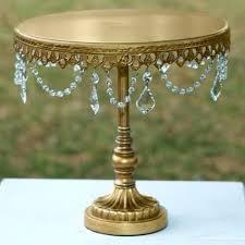 gold cake holder