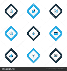 Unity Pie Chart Job Icons Colored Set With Statistics Unity Circle Graph