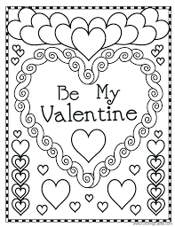 Coloring Pages ~ Valentines Day Coloring Sheets For Preschool Pages ...