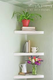 ... Amazing Design Corner Floating Shelves Pretty Inspiration Ideas Floating  Corner Shelves ...