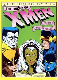 Apocalypse, the first and most powerful mutant from marvel's. Uncanny X Men Coloring Book Sc 1986 Marvel Comic Books