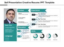 Self Presentation Creative Resume Ppt Template Presentation Delectable Resume Powerpoint