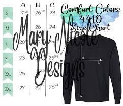 Comfort Colors 4410 Size Chart T Shirt Mockup Flat Lay