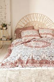 boho duvet covers queen plum bow anza tiled duvet cover
