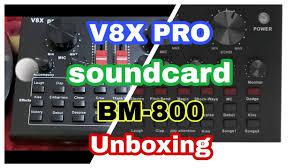 <b>V8X PRO soundcard</b> & BM-800 unboxing / pede sa IOS device ...