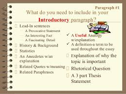 how to write a paragraph essay  paragraph 1 what do you need