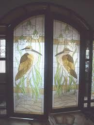 stained glass fiberglass door stork