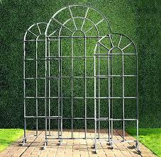 free standing garden trellis iron arch panels metal wrought trellises trell
