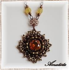 17 best images about beads pendants beading peyote colgante velvet by el rincón de amatista via flickr