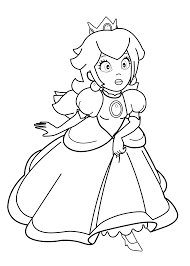 Princesse Supermario Coloring Page For Girls