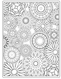 Adult Flower Coloring Pages Dariokojadininfo