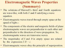 electromagnetic waves properties summary