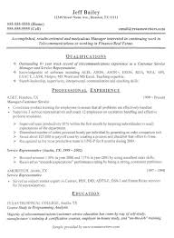 telecom sample resume telecom resume resumewriters telecom resume examples