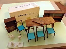 Vintage Miners Industries Japan Mid Century Modern Dollhouse Dining Rm  Furniture Lot  Making MinisHow To Pinterest Dollhouse Mid Century
