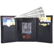 Tri Fold Window Rfid Blocking Tri Fold Genuine Leather Wallet For Men With Id Window Black